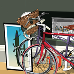 Shelving and bikes, by Patrick Vale