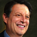 Portrait of Al Gore for the cover of The New Republic magazine, by Mark Hess