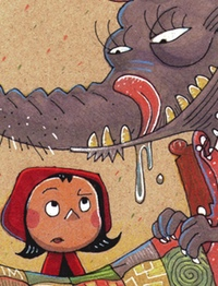 Little Red Riding Hood illustration, by Adam Koford