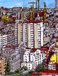 Sketch of Barcelona, by Miguel Herranz