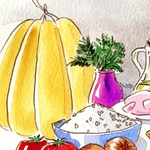 Illustrations from an Emilia Romagna cookbook, by Miguel Herranz