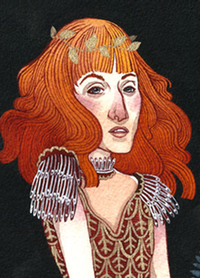 Strangeness and Charm (portrait of Florence Welch), by Caitlin Clarkson
