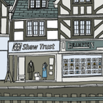 Detail of an illustration for the Sainsbury's heritage store in Buckinghamshire, by Laura Barnard (visit her site for more details)