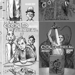 Some pencil sketch ideas for the cover of Cold Cereal, by Adam Rex