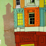 Illustration of a street corner, by Michael Hirshon