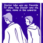 A page from Rebecca Mock's comic 'My First Valentine Was Doctor Who'